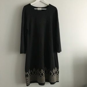 Eliza J Long Sleeve Crewneck sweater dress